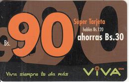 BOLIVIA - Viva Prepaid Card Bs.90, Exp.date 01/04/04, Used - Bolivia