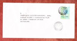 Brief, EF Freiheitskopf, Curitiba Nach Frankfurt 1996 (54090) - Cartas