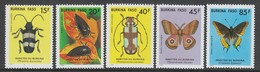 SERIE NEUVE DU BURKINA FASO - INSECTES DU BURKINA N° Y&T 700 A 704 - Insectos
