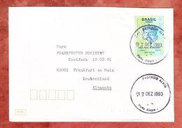 Brief, EF Freiheitskopf, Porto Alegre Nach Frankfurt 1993 (54092) - Cartas