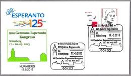 125 Años De ESPERANTO - 90 Congreso Aleman De Esperanto. Nurnberg 2013 - Esperánto