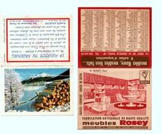 2 Calendriers De Poche - 1969 Et 1972 - Calendriers