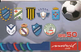 BOLIVIA - Football, Movil De Entel Prepaid Card Bs.50, Exp.date 24/10/05, Used - Bolivia