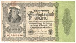 Billets >  Allemagne >  50000 Mark 1922 - [ 3] 1918-1933 : Weimar Republic