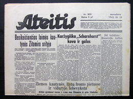 1943.12.28 Lithuania WW II/ Newspaper/ Ateitis No. 300 - Boeken, Tijdschriften, Stripverhalen