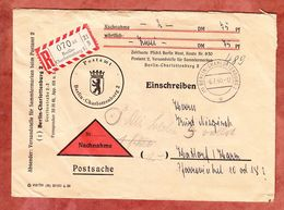 Postsache, Einschreiben Reco, Berlin-Charlottenburg Nach Hattorf 1960 (54096) - Berlin (West)