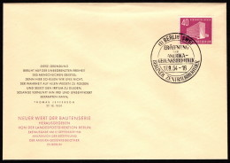 BER SC #9N109 1954 Memorial Library FDC 09-17-1954 - FDC: Covers