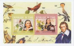 CHAD 2013 MNH**  Birds J.J. Audubon S/S - OFFICIAL ISSUE - DH1828 - Vogels