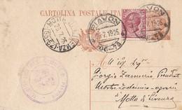 1925 Cart Postale Con Frazionario Di Piavon - 1900-44 Vittorio Emanuele III