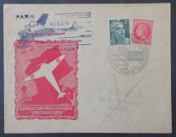 """France - Carte """"Exposition Philatélique """"Prisonniers"""" + Timbres YT N°676 Et 713 - Le 18 Février 1946 - 1921-1960: Période Moderne"""