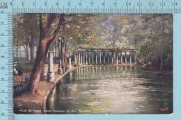 CPA Voyagé 1906 - Raphael Tuck Oilette,  -Paris, Ruine Romaine Du Parc Monceau, # 7168 - Stamp CND #89 - Tuck, Raphael
