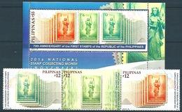 Pilipinas - Philippines (2016) - Set + Block -  /  Timbre Sur Timbre - Stamp On Stamps - Sello Sobre Sello - Postzegels Op Postzegels