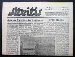 1943.12.29 Lithuania WW II/ Newspaper/ Ateitis No. 301 - Boeken, Tijdschriften, Stripverhalen