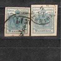 Austria1850::Michel 5used(2varieties) - 1850-1918 Imperium