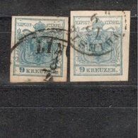 Austria1850::Michel 5used(2varieties) - Gebraucht