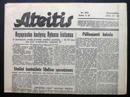 1943.12.30 Lithuania WW II/ Newspaper/ Ateitis No. 302 - Boeken, Tijdschriften, Stripverhalen