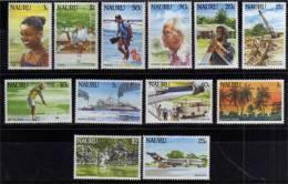 Ile Nauru. Serie Definitive Complete 1984.  12 T-p Neufs ** Yv.# 289/300. Cote 20.00 € - Nauru