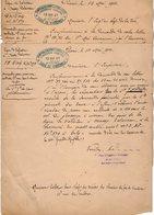VP12.708 - PARIS 1901 - 2 Lettres De La Cie Des Chemins De Fer De L'Est Ligne De VINCENNES - VALENTON à MASSY PALAISEAU - Chemin De Fer