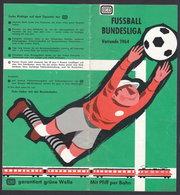 FUSSBALL BUNDESLIGA FOOTBALL SOCCER 1964 Timetable - Schedule FOLDER (see Sales Conditions) - Football