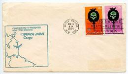 United Nations 1974 1st Pan Am 747 Flight Cover, New York To Caracas Venezuela - New York -  VN Hauptquartier