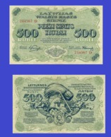Latvia 500  Latu 1920 - REPLICA --  REPRODUCTION - Latvia