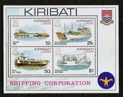 KIRIBATI 1984 - SHIPS / Shipping Corporation - Bloc 11 Mi 439-442 MNH ** Cv€5,00 V1135 - Kiribati (1979-...)