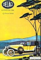 PUB Publicité NUGERON VA 20 -Nos VIEILLES AFFICHES -Automobiles DELAGE  (auto Voiture Automobile ) - Advertising