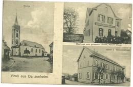 68 Cpa Banzenheim Restaurant Lion D Or Meyer Marie Ecole Animation 1917 - Autres Communes