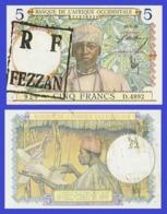 Libya 5   FRANCS  1938 - Stamp FEZZAN   - REPLICA --  REPRODUCTION - Libye