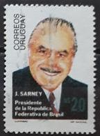 URUGUAY 1986 Visit Of President Jose Sarney In Uruguay. USADO - USED. - Uruguay