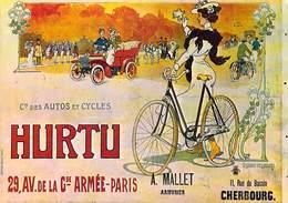 PUB Publicité NUGERON  VA 6-Nos VIEILLES AFFICHES  Autos Et Cycles HURTU  Paris (auto Voiture Vélo Cycle) *PRIX FIXE - Advertising
