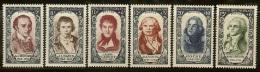 France-Célébrités-N°867 à 872-Neufs Sans Charnières - France