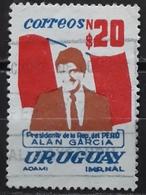 URUGUAY 1986 Visit Of President Alan Garcia In Uruguay. USADO - USED. - Uruguay