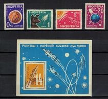 "Albania 1962 _ Exploring Space _ Minisheet ""A"" + Full Series ""A"" - MNH ** - Albania"