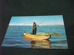 STORIA POSTALE  FRANCOBOLLO PERU' POSTA AEREA TOBORA BOAT ON LAKE TITICACA PUNO - Perù