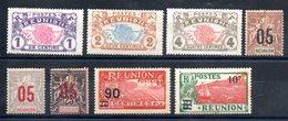 Réunion Y&T 56*, 57*, 58*, 72*, 73*, 75*, 102*, 107* - Réunion (1852-1975)
