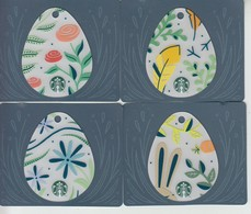 4 X Germany Starbucks Card Eggs   Limited Edition 2017 - Gift Cards