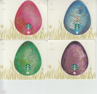 4 X Germany Starbucks Card Eggs   Limited Edition 2015 - Gift Cards