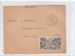 SOBRE ENVELOPE CIRCULEE TO PARIS YEAR 1948 REUNION- BLEUP - Lettres & Documents