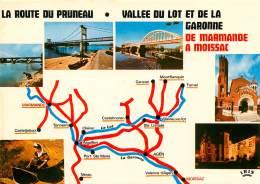 La Route Du Pruneau D'AGEN De Marmande à Moissac  28  (scan Recto-verso) KEVREN0643 - Moissac