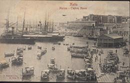CPA Malta Marina Custom House Old Card Antic CAD Malte Tunis Regence Tunis 30 10 1903 Arrivée Constantine 31 10 03 YT 18 - Malta