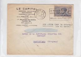 LE CAPITAL SOBRE ENVELOPE CIRCULEE PARIS TO MONTEVIDEO YEAR 1971 BANDOLETA PARLANTE- BLEUP - Covers & Documents