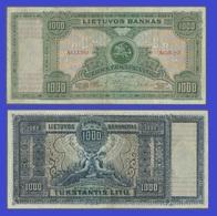Lithuania 1000 Litas 1924   - REPLICA --  REPRODUCTION - Lithuania