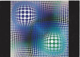 CPM VASARELY - FENY 1973 - Peintures & Tableaux