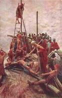 Art - Peinture - Mastroianni - Vie Du Christ - Jésus Attaché à La Croix - Carte Neuve - Voir Scans Recto-Verso - Paintings