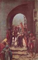 Art - Peinture - Mastroianni - Vie Du Christ - Simon Le Gyrénéen Aide Jésus à Porter Sa Croix - Carte Neuve - Voir Scans - Paintings
