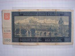 Tchécoslovaquie Billet 100 Korun 1940 Protectorat Allemagne Nazie De Bohême Moravie Morava - États D'Afrique De L'Ouest