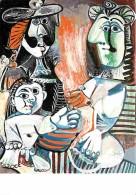 Art - Peinture - Pablo Picasso - La Famille - Carte Neuve - Voir Scans Recto-Verso - Paintings