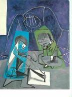 Art - Peinture - Pablo Picasso - Claude Dessinant Françoise Et Paloma - Carte Neuve - Voir Scans Recto-Verso - Paintings