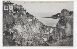 MONACO - N° 127 - LE RAVIN DE STE DEVOTE ET VUE SUR LA POINTE DU ROCHER - CPA NON VOYAGEE - Monaco